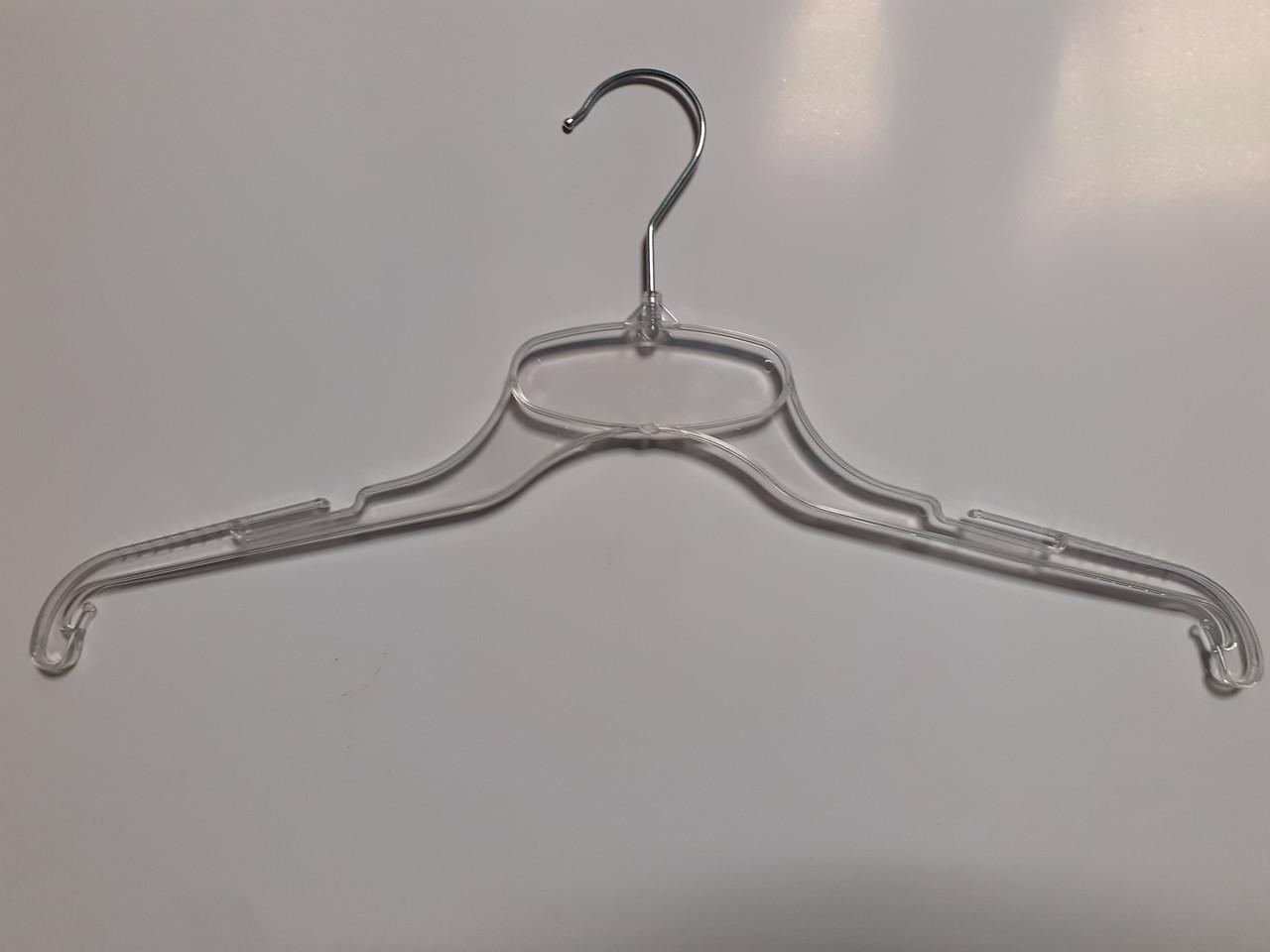 Вешалки, тремпеля, плечики для одежды металлический крючок 43см Прозрачные