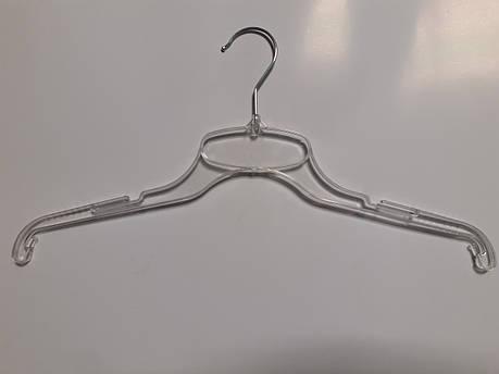 Вешалки, тремпеля, плечики для одежды металлический крючок 43см Прозрачные, фото 2