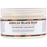 Масло ши с африканским чёрным мылом, Nubian Heritage, 114 г