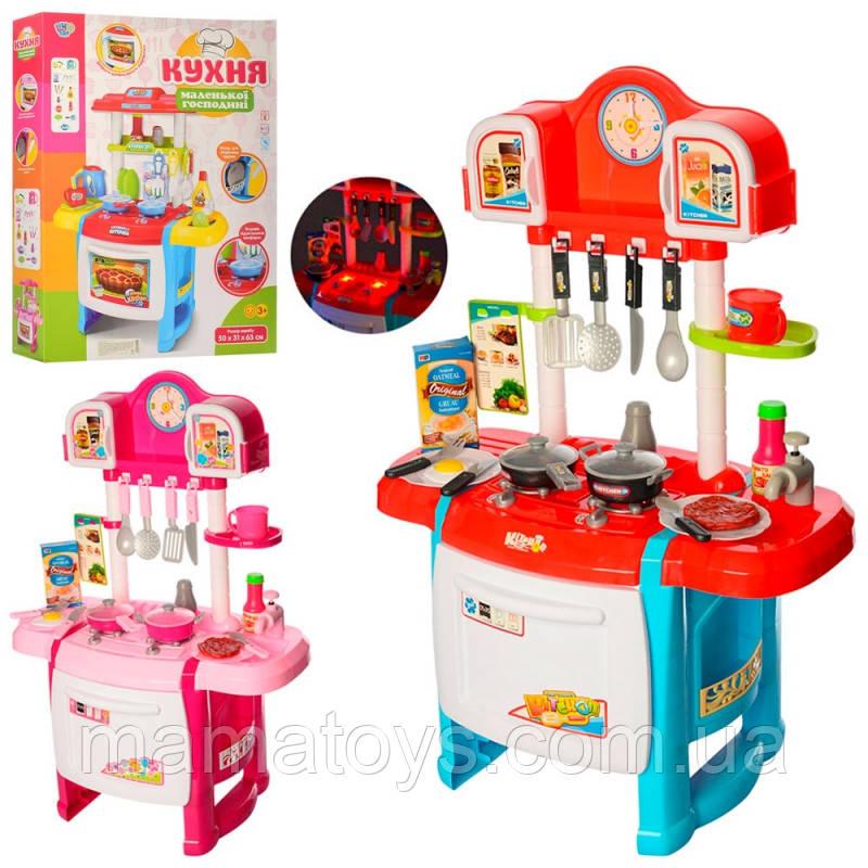 Детская игровая Кухня WD-P19-R19  плита, духовка, 50-31-70 см, звук, свет, посуда, продукты, 2 вида, батар