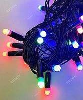 Гирлянда Пальчик 40 LED, черный провод,7 м+переходник, мульти цвет