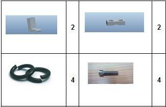 Комплект стійок (кронштейнів) для педалей KS-14D