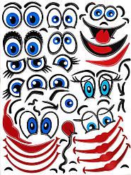 Наклейки лица для шаров 230*307мм (Т3с)