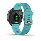 Смарт-годинник Garmin Forerunner 245 Music Aqua чорний з бірюзовим ремінцем, фото 2