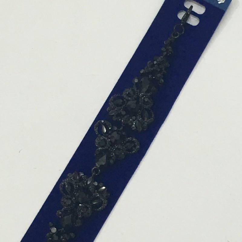 """Вечерний браслет """"Azali"""", черного цвета, нарядный."""