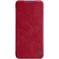 Чехол книжка Xiaomi кожаный Nillkin Qin Series для Xiaomi Redmi Note 8 Pro Красный