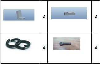 Комплект стійок (кронштейнів) для педалей KS- 14S, фото 2