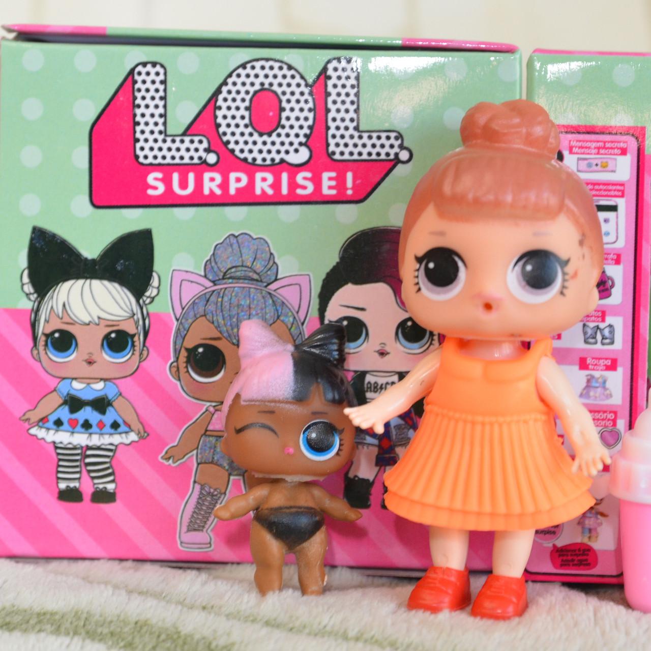 LQL 2 серия. 2 куклы в 1  шаре (10 см).