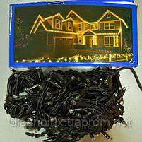 Гирлянда уличная нить String 10м, каучук LED 100  желтый  IP65, фото 2