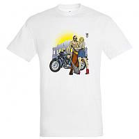 """Байкерская футболка """"Козак c булавой, Девушка, Солнце и КМЗ"""", фото 1"""
