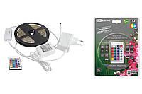 Комплект светодиодной лентыSMD5050-30LED/м-12 В-7,2 Вт/м-IP20-RGB (3м), 18 Вт, IR-контроллерTDM