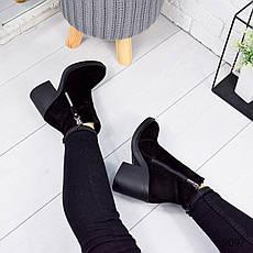 """Ботинки женские зимние, черного цвета из натуральной замши """"9097"""". Черевики жіночі. Ботинки теплые, фото 3"""