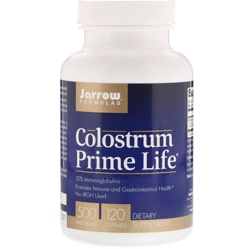 """Молозиво Jarrow Formulas """"Colostrum Prime Life"""" для поддержки иммунитета, 500 мг (120 капсул)"""