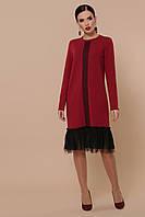 Женское трикотажное платьеспорт-шик «Иренка» (Серое, бордовое | S, M, L, XL)