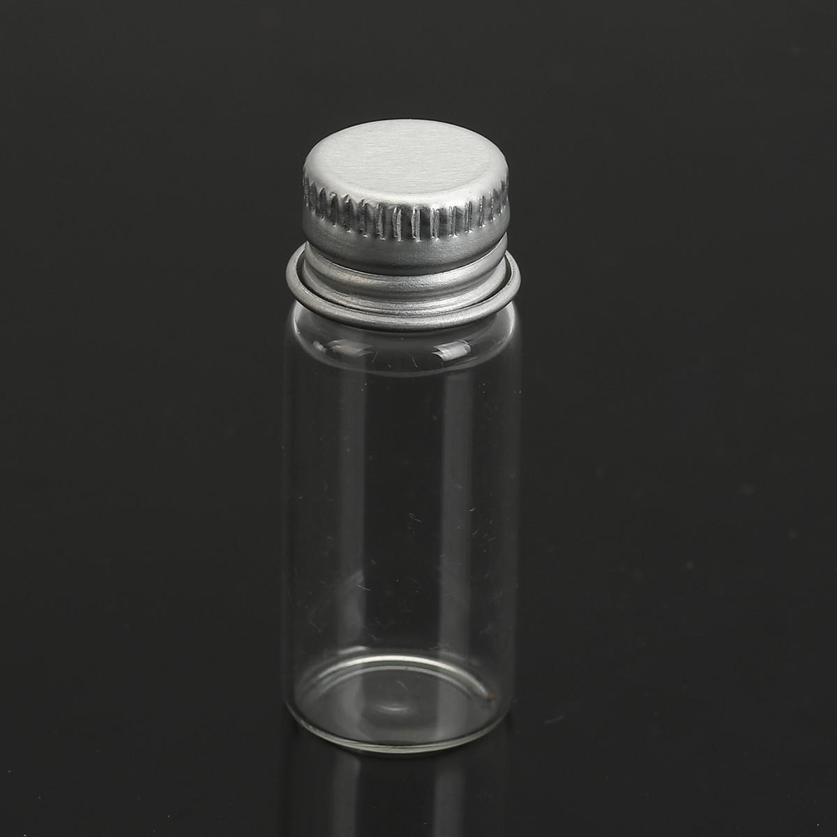 Циліндрична пляшка + Кришка Скляна, Прозора, 41 мм x 16 мм