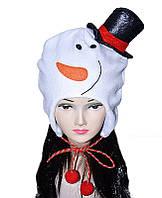 Шапка-ушанка Снеговик 170216-222