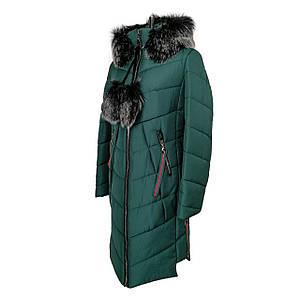 Куртки парки женские зимние молодежная 42-52 зеленый