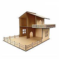 Кукольный домик с террасой Техас  МДФ, 46х52х60см.