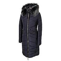 Женская зимняя куртка парка молодежная 42-52 темно-синий