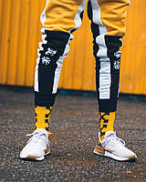 ❄️🔥 Спортивные штаны Triplekill черно-желтые 🔥❄️