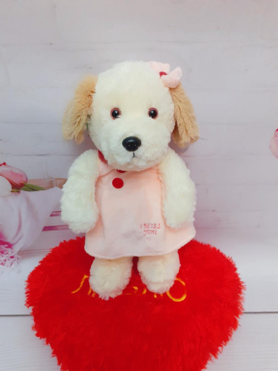 Мягкая игрушка собачка Девочка 35см