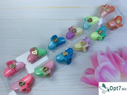 Крабик пластик, двухцветные Вареничек с сердцем, 3.5 см, фото 2