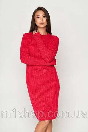 Женское теплое вязаное платье по фигуре (СБ 05 mm), фото 2