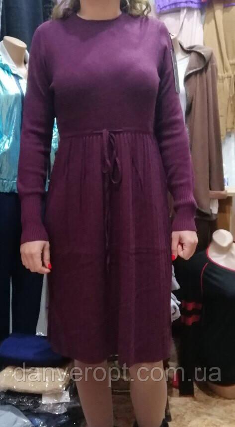 Платье женское модное на затяжке размер универсальный 44-50 купить оптом со склада 7км Одесса