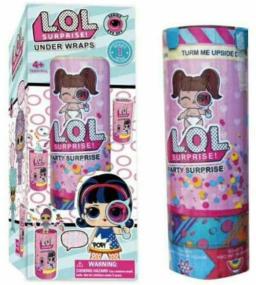 LQL  Surprise Popper 1 Series.  Хлопушка 2 игрушки и аксессуары в наборе.