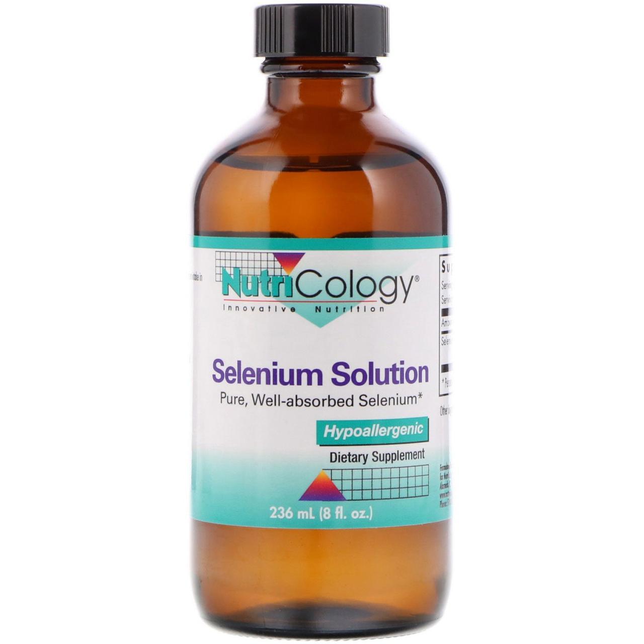 Селен (Selenium Solution), Nutricology,  263 мл.