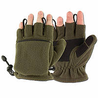 Зимние флисовые перчатки-варежки MFH олива 15311B, фото 1