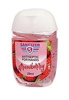 Антисептик для рук Sanitizer (Санитайзер) Полуниця - Strawberry 29 ml