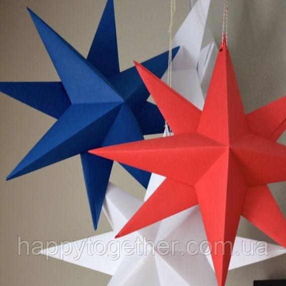 3D звезда 70х70 см