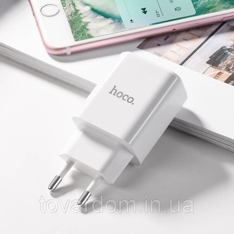 Зарядное устройство для iPone СЗУ 2USB Hoco C62A Black + USB Cable iPhone 8 (2.1A)
