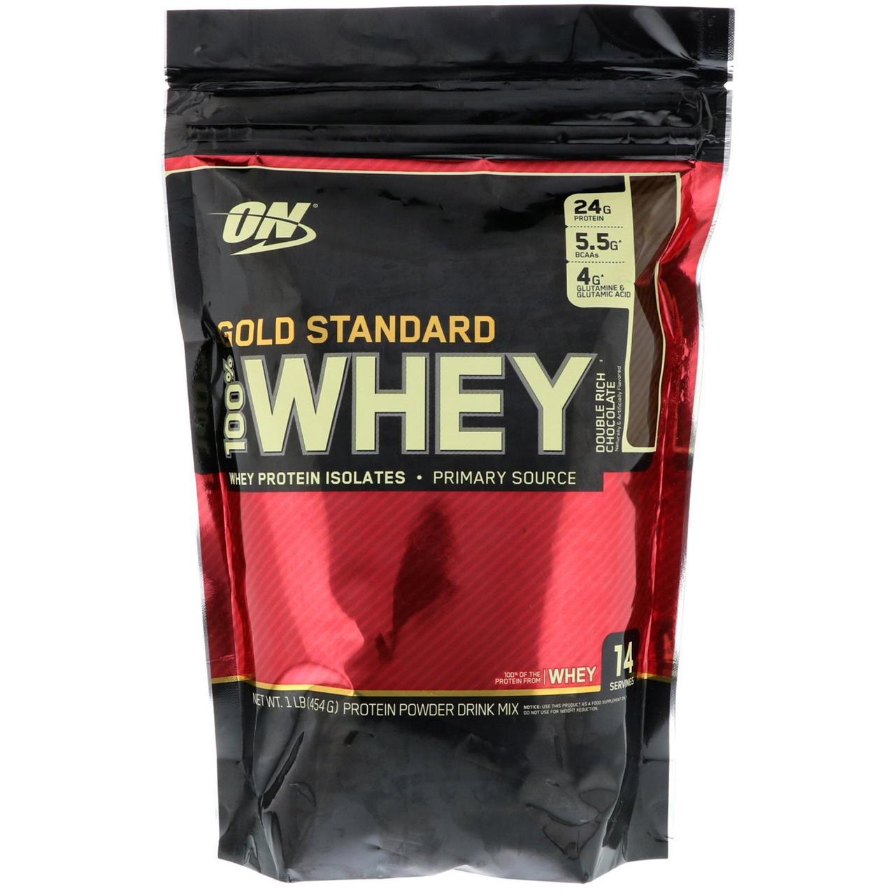 Сывороточный протеин (Gold Standard 100% Whey), шоколад, Optimum Nutrition, 454 г