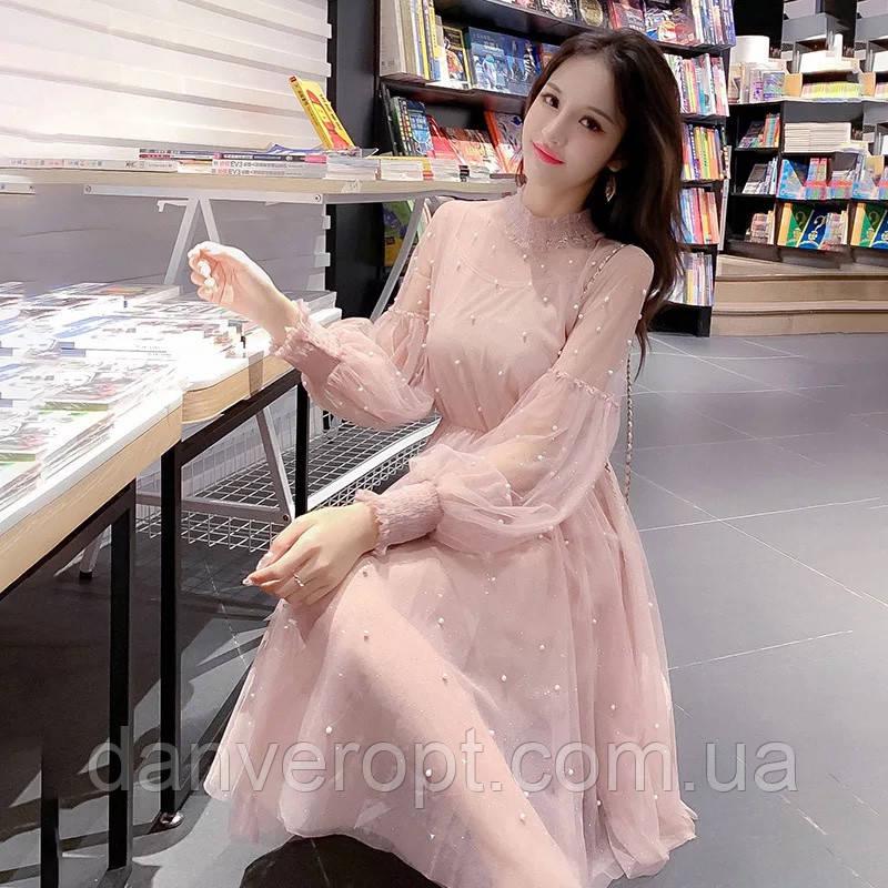 Платье женское модное нарядное размер универсальный 42-48 купить оптом со склада 7км Одесса