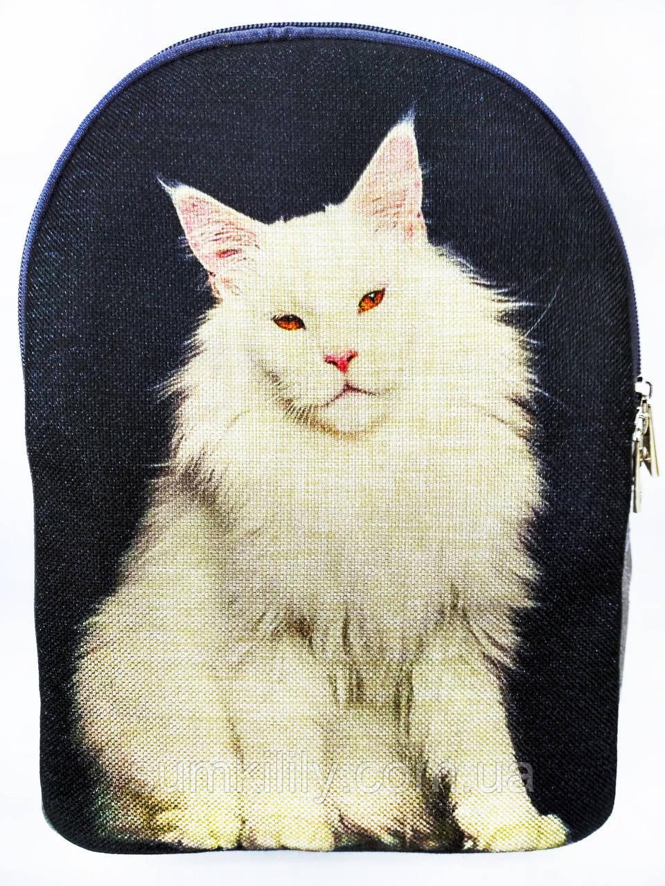 Текстильный рюкзак МЕЙНКУН белый