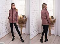 Женская спортивная стеганная куртка на синтепоне 200 арт 1