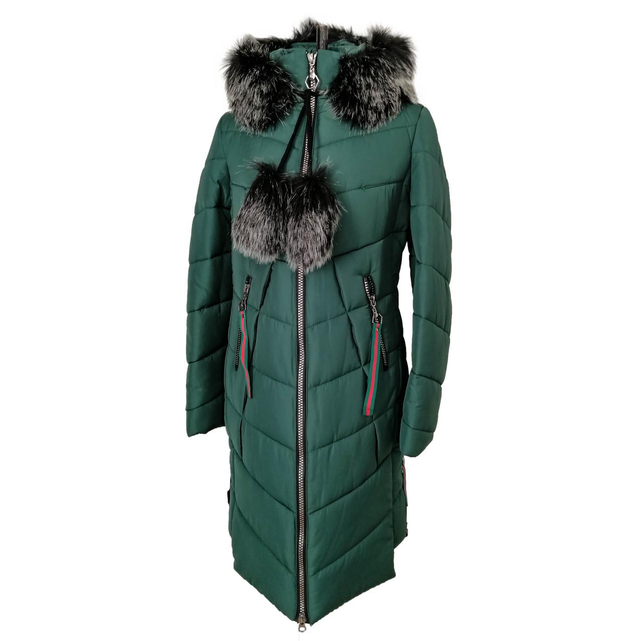 Женская зимняя куртка парка молодежная   42-52 зеленый