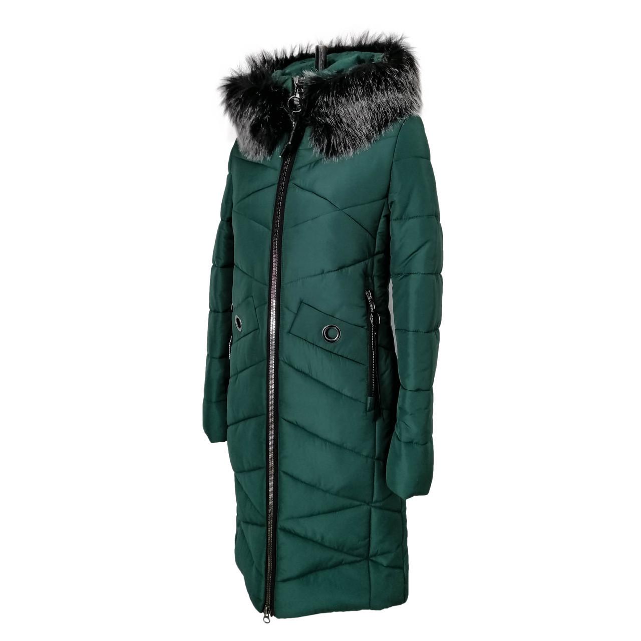 Куртки парки женские зимние  молодежные 42-52 зеленый