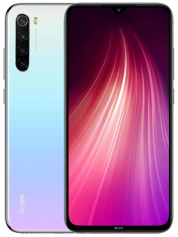 "Xiaomi Redmi Note 8 4/64 Gb Moonlight White, 6.3"", Snapdragon 665, 3G, 4G (Global)"