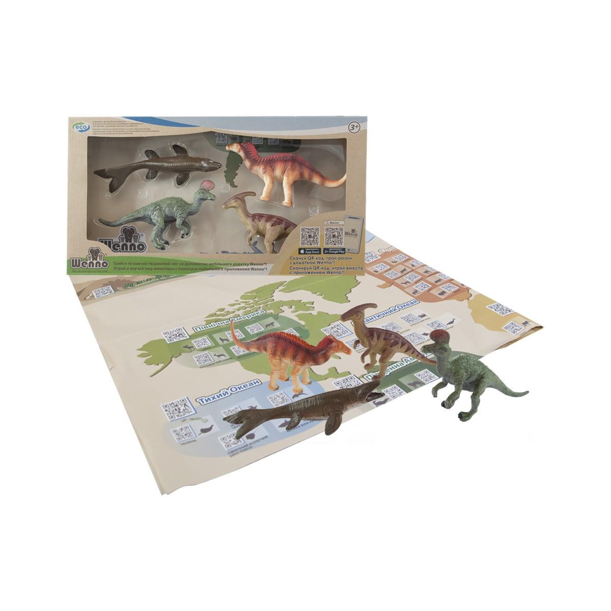 Обучающий игровой набор с QR-картой - ДИНОЗАВРЫ МЕЛОВОГО ПЕРИОДА