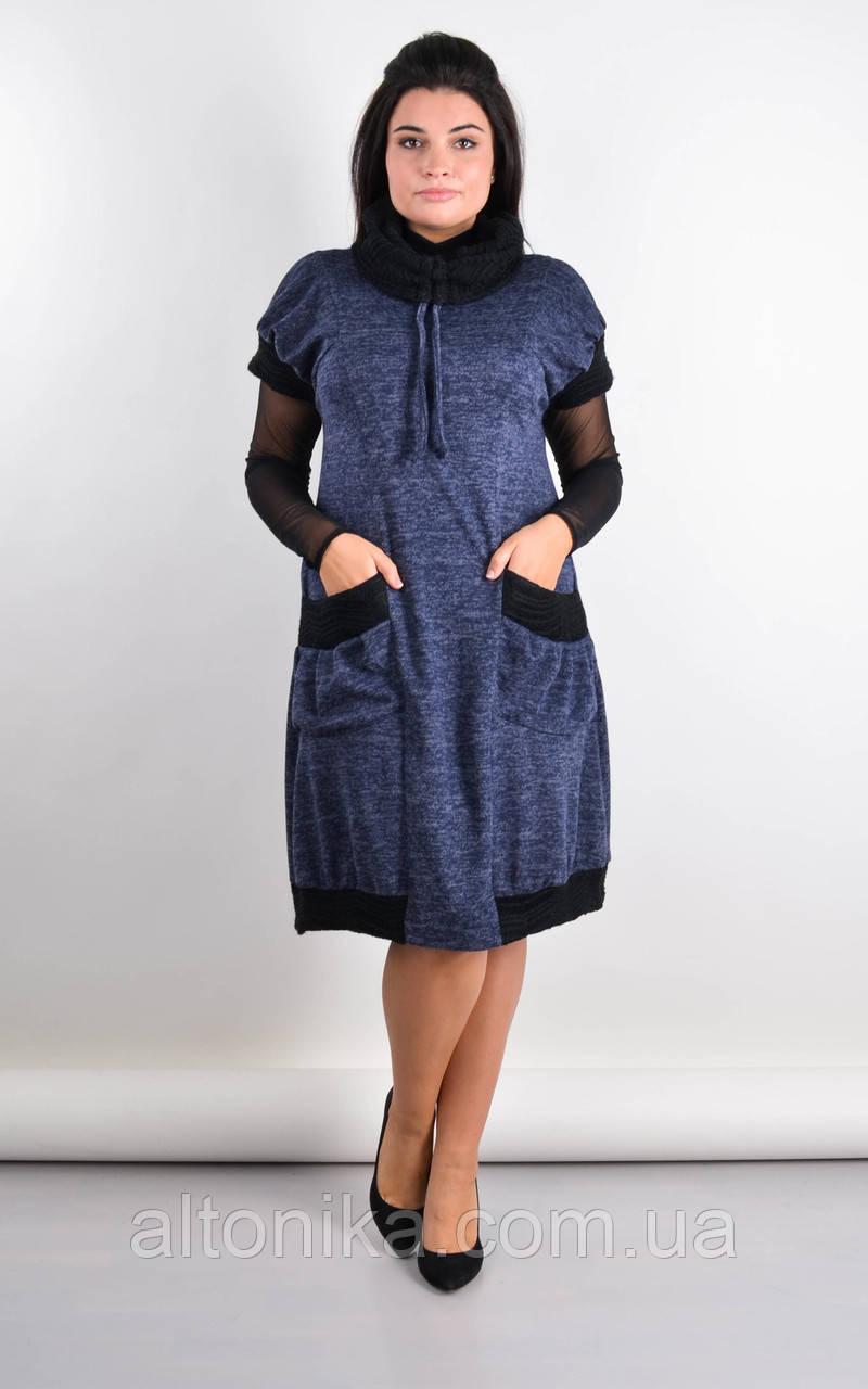 Элла. Стильное платье плюс сайз. 58-60, 62-64