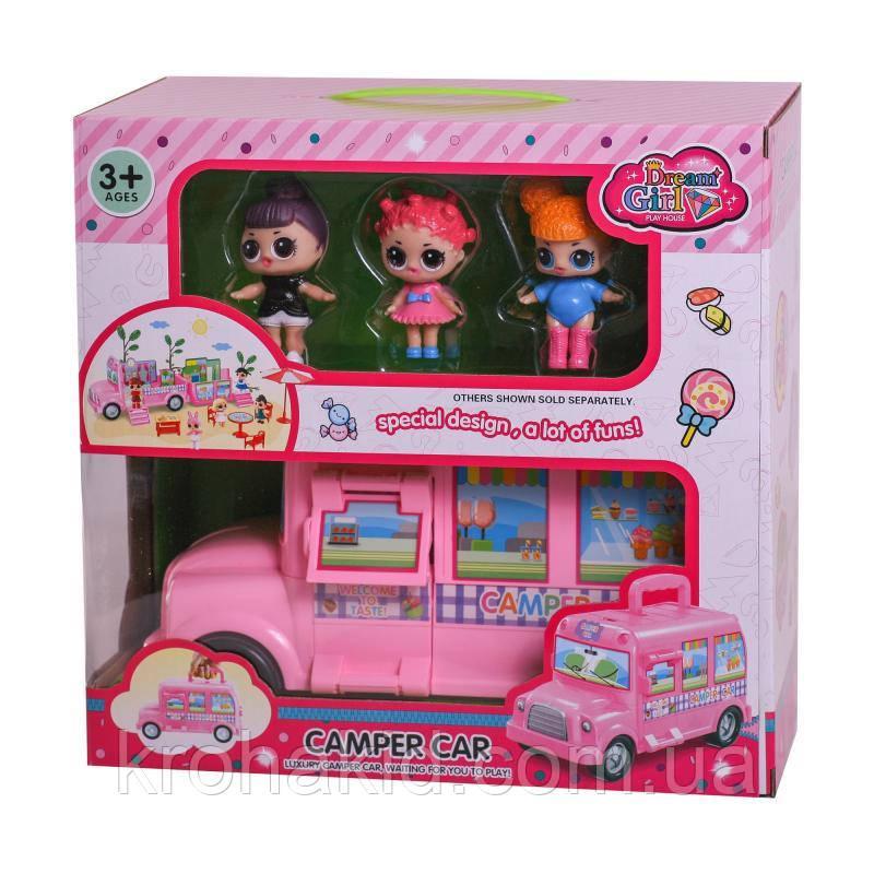 Ігровий набір Лол автобус 588-3 / Lol camper car / аналог