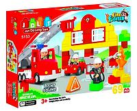 Конструктор JDLT 5153 Пожарная станция 69 детали