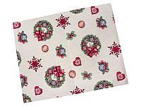 Салфетка-подкладка под тарелку гобеленовая новогодняя 34 х 44 см серветка під тарілку новорічна