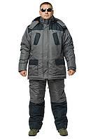 Костюм для зимней рыбалки Турист серый-черный