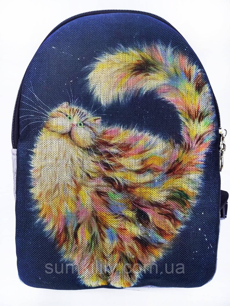 Текстильный рюкзак РАДУЖНЫЙ КОТ 2, фото 1