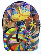 Текстильный рюкзак РАДУЖНЫЙ КОТ