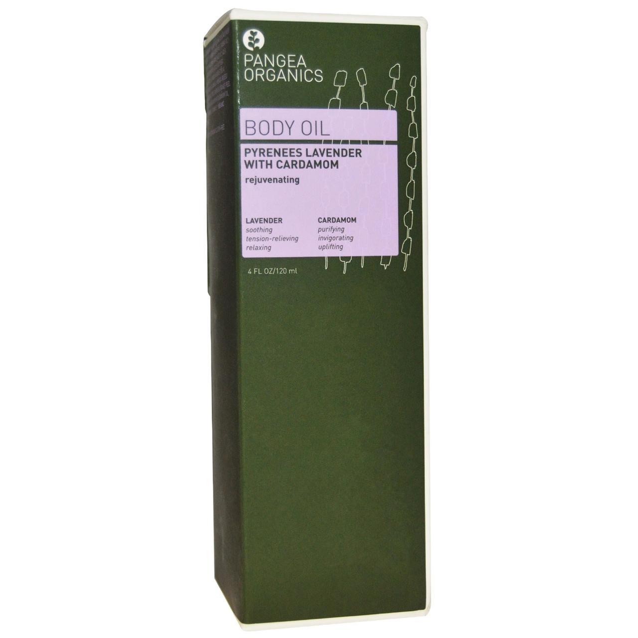 Pangea Organics, Body Oil, Pyrenees Lavender with Cardamom, 4 fl oz (120 ml)